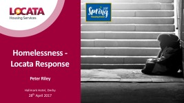 Peter Riley – Homelessness Toolkit Presentation 2017